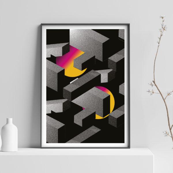 Affiche minuit studio bloc
